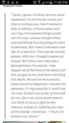 Quinn's letter for Carrie