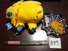 Pokemon Center Plush Doll Pass Case Joltik Wattzapf Statitik 피쪼옥  #PokemonCenter