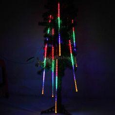 30CM Meteor Shower Rain Tubes LED Light for Christmas Wedding Garden Decoration 100-240V/US Plug & EU Plug