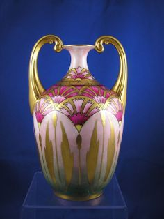 "Limoges Blank Pickard Studios ""Cornflower Conventional"" Design Handled from darkflowers on Ruby Lane"