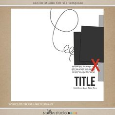 FREE Digital Scrapbooking Template / Sketch | February '21 | Sahlin Studio | Digital Scrapbooking Designs