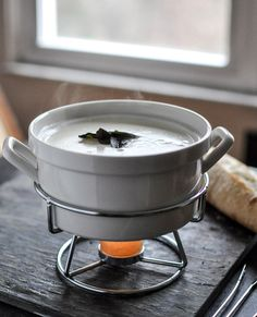 Goat Cheese Fondue with Fried Sage. | How Sweet It Is