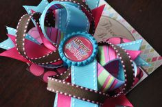 """""""Daddy Did My Hair"""" Bottlecap Bow by threepeasboutique on Etsy, $9.00"""
