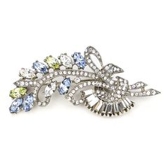 The Crystal Collage Collection Measurements: x Metal: Silver-tone Metal Swarovski Crystal Made in the USA Spring Has Sprung, Swarovski Crystals, Most Beautiful, Collage, Brooch, Deco, Usa, Metal, Silhouettes