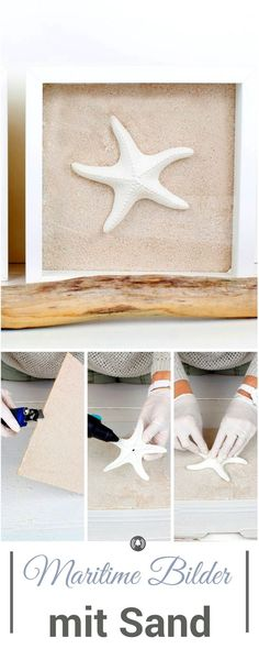 Ikea-Hack: Maritime Bilder mit Sand mit dem Ribba Bilderrahmen Great DIY with the Ribba picture frame from IKEA and sand, shells, starfish …. simply and quickly conjured up a great decoration! Cool Diy Projects, Diy Crafts For Kids, Home Crafts, Diy Home Decor, Craft Ideas, Ikea Pictures, Home Pictures, Picture Frame Shelves, Beach Hacks