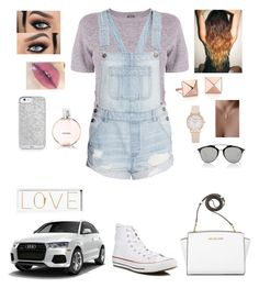 """""""LOVE """" by tiffany-london-1 ❤ liked on Polyvore featuring Monrow, Converse, Blue Nile, Michael Kors, Chanel, Christian Dior and Oliver Gal Artist Co."""