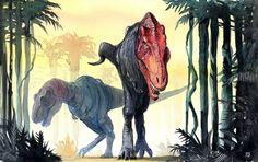 Tyrannosaurus rex Arte por: Meinert Hansen