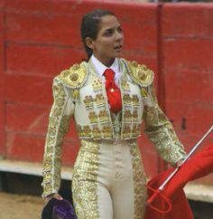 Bull Fighter Vanesa Montoya, 24, in costume - traje de luces.