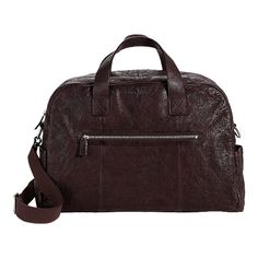 8f720db658b7 Cole Haan Merced Weekender (Dark Brown Washed) Men s Bags