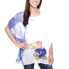 Kansas Jayhawks Women's Sheer Tunic - Royal Blue - $31.19
