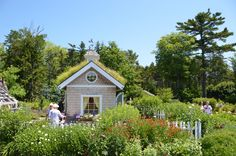 The Coloring Cottage at Coastal Maine Botanical Gardens.