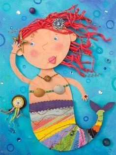 mermaid art for kids - Google Search Más