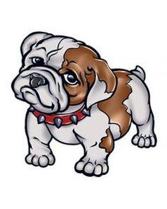 Cute Bulldog Temporary Tattoo