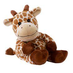 Giraffe Giraffana - Warmies. Schnell ins Herz schließen: Unsere Warmies® Giraffe Giraffana mit samtig weichem Fell ist ca. 35 cm lang und wiegt etwa 820 g. Sie begeistert mit Wärme und wohltuendem Lavendelduft und ist so die perfekte Freundin zum Kuscheln aus der afrikanische Steppe für daheim! SHOP HIER: http://www.warmies.de/epages/warmies.sf/de_DE/?ObjectPath=/Shops/warmies/Products/01068