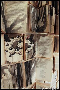 Рисовать в книгах можно! Работы Екатерины Паникановой