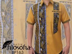 Batik kombinasi bahan katun, IDR 225.000 Blouse Batik, Batik Dress, African Clothing For Men, African Men Fashion, African Print Dresses, African Dress, Batik Fashion, Uniform Design, Country Shirts
