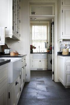 Gil Schaefer - Miles Redd - corbels  Slate tile floors in the kitchen