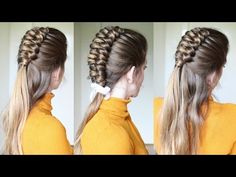 Half up Half Down Infinity Braid Hairstyle | Braids Hairstyles | Braidsandstyles12 - YouTube