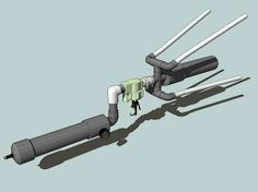 I will show you how to build a net gun out of materials available at any big box home improvement store. This net gun is capable of firing a 90 square foot net Disaster Preparedness, Survival Prepping, Survival Life, Air Cannon, Grappling Hook, Spy Gear, Homemade Weapons, Pvc Projects, Spy Gadgets