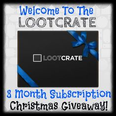 Enter to win! The #Lootcrate 3 Month Subscription Christmas Giveaway - Heartbeats~ Soul Stains