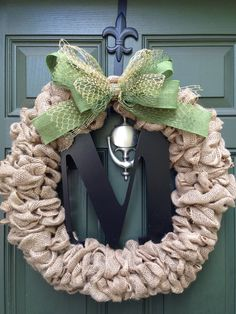 Burlap wreath  Front Door Wreath  Fall by HarveyLittlesDesigns, $65.00