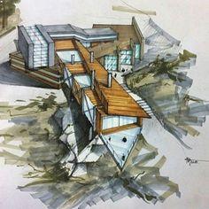 #sketch_arq #architecture #design #ideas #architecturestudent #アーキテクチャ #arquitectura #Architektur #sketch #instadaily #drawing #modern #art #modern #follow #architec #architecturesketch #architectureporn