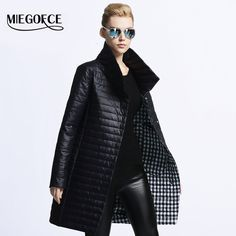 MIEGOFCE 2016 New spring jacket women winter coat women s clothing warm  outwear Cotton-Padded long Jacket coat Slim trench coat - Outerwear bc2a27a82342