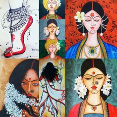Indian Art Paintings, Acrylic Art, Fabric Painting, Dear Friend, Painting Inspiration, Watercolor, Photo And Video, Disney Princess, Canvas