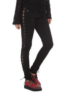 Royal Bones Skinny Pants: Lace 'em!