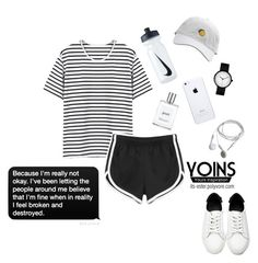 """""""YOINS 32/45"""" by its-ester ❤ liked on Polyvore featuring philosophy, NIKE, yoins, yoinscollection and loveyoins"""
