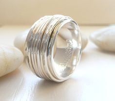 Sterling Silver Spinner Rings by Stilosissima on Etsy, $80.00