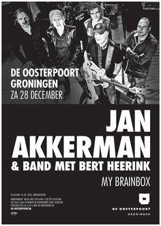 Met 'My Brainbox' herleven goede oude tijden! Jan Akkerman is al ruim veertig jaar wereldwijd een van de meest gerespecteerde gitaristen van Nederlandse bodem. Hij richtte Brainbox op in 1968 en keert nu terug op de podia met het bekende en minder bekende repertoire van de legendarische band. Niemand minder dan Bert Heerink – ooit frontman van de Nederlandse hardrockband Vandenberg – verzorgt de zangpartijen.