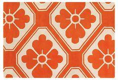 Obi Rug, Pumpkin/Cream on OneKingsLane.com