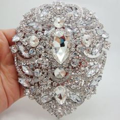 TTjewelry Bride 4.92' Flower Drop Pendant Bridesmaid Brooch Austria Crystal >>> You can find more details by visiting the image link. (This is an affiliate link) #JewelryForWomen