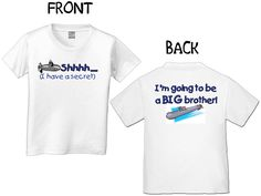 SHHHH I HAVE A SECRET IM GOING TO BE A BIG BROTHER WITH SUBMARINE T-SHIRT. $15.00, via Etsy.