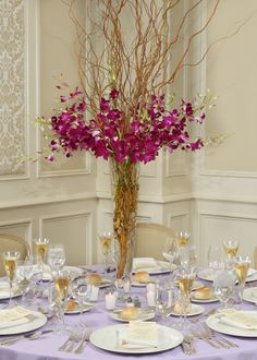 How nice is this orchard wedding centerpiece!?