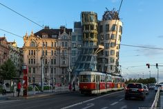 Frank Gehry - one of the better pictures of the Dancing House in Prague, Czech republic.