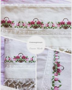 This Pin was discovered by Saa Cross Stitch Borders, Stitch 2, Bargello, Embroidery Stitches, Instagram, Madagascar, Traditional, Embroidered Towels, Ideas