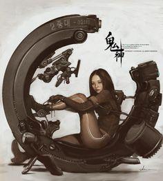 I'm going to cyberpunk mecca Hong Kong Sci Fi Kunst, Cyberpunk Kunst, Cyberpunk 2077, Arte Sci Fi, Sci Fi Art, Character Concept, Character Art, Concept Art, Tag Art