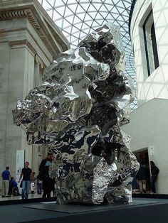 Zhan Wang and he is an abstract sculptor who works with the boldness of the media