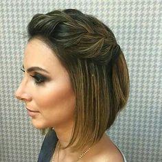 Penteado de madrinha cabelo curto