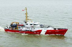 Canadian Coast Guard inaugurated its newest Hero-class mid-shore patrol vessel, CCGS A. LeBlanc into the fleet. This vessel will be used mainly to enforce fisheries regulations in the St. Lawrence River and Gulf of St. Coast Gaurd, Coast Guard Ships, Canadian Coast Guard, Boat Props, Royal Canadian Navy, Saint Laurent, Navy Day, Search And Rescue, Sailing Ships