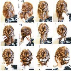 Braids, twist, and elegance Work Hairstyles, Bride Hairstyles, Pretty Hairstyles, Bridesmaid Hair, Prom Hair, Medium Hair Styles, Short Hair Styles, Hair Arrange, Hair Setting
