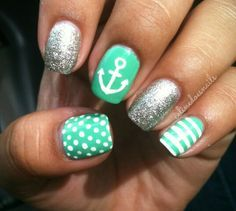 anchor nail art - Google Search