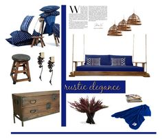 """""""A new spin on rustic decor"""" by fl4u ❤ liked on Polyvore featuring interior, interiors, interior design, home, home decor, interior decorating, fferrone design, Cyan Design, Southern Komfort Bedswings and Capital Lighting"""