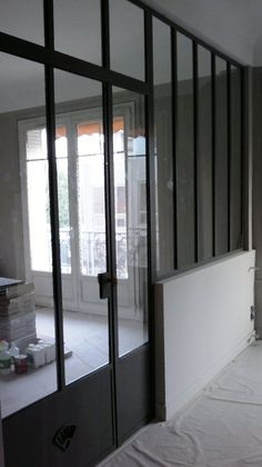 French Door Windows, Steel Doors And Windows, Interior Architecture, Interior And Exterior, Crittal Doors, Room Deviders, Glass Partition Wall, Loft, Patio Doors