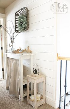 Best Interior Design Tips - Decorate Like A Pro - Best Home Decor Tips Shiplap Bathroom, Small Bathroom, Washroom, Bathroom Ideas, Neutral Bathroom, Bathroom Canvas, Bathroom Cabinets, Cupboards, Faux Shiplap