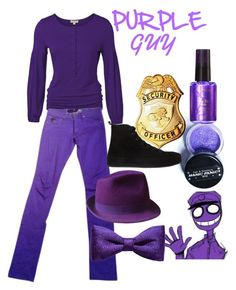 """""""purple guy"""" by graceraccoon on Polyvore featuring art and fnaf"""
