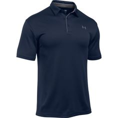 The Men's Under Armour Tech Polo is the perfect polo shirt for active men. This Under Armour polo looks great and is made with high-performance fabric. Under Armour Logo, Under Armour Men, Golf Attire, Golf Outfit, Under Armour Herren, Fishing Outfits, Golf Fashion, Fashion Clothes, Men's Fashion