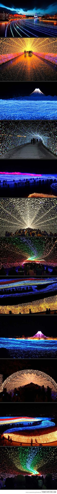 Japan's Winter Lights Festival #ravenectar #art #installation #modern #contemporary #design